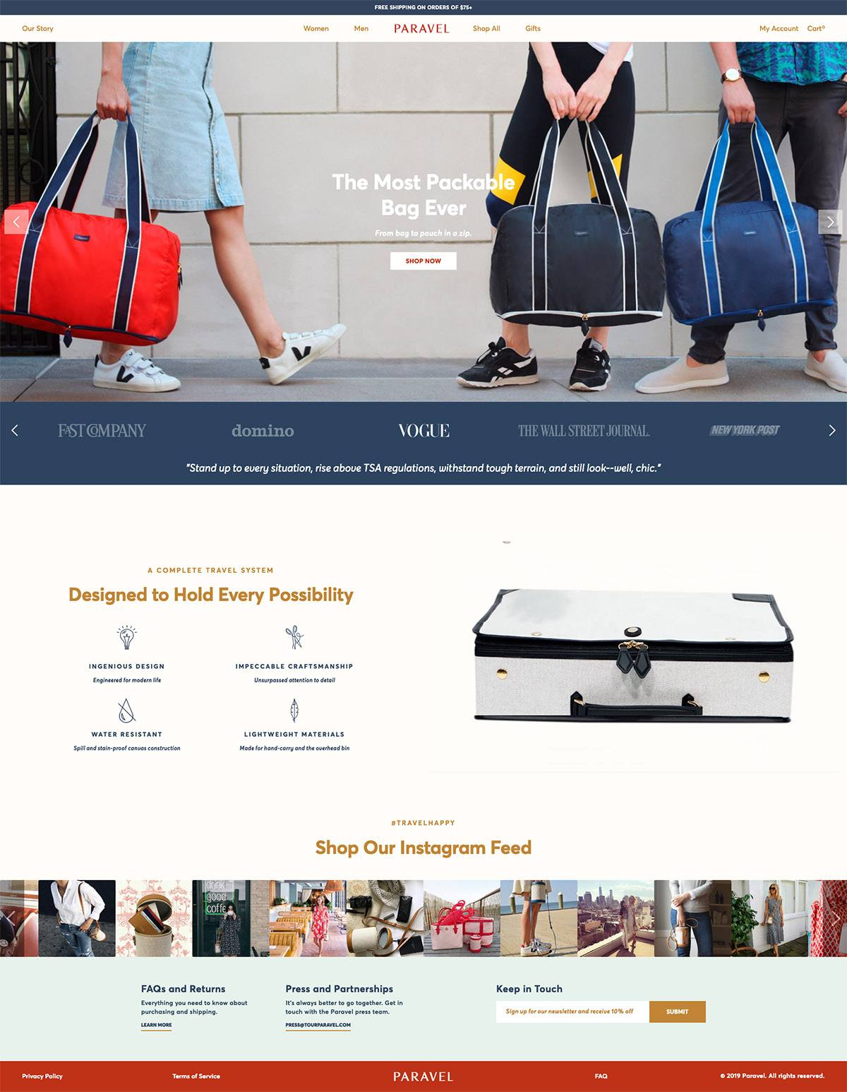 eCommerce website: Paravel