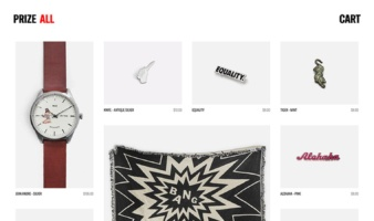 eCommerce website: Prize NYC