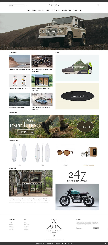 eCommerce website: SEIKK