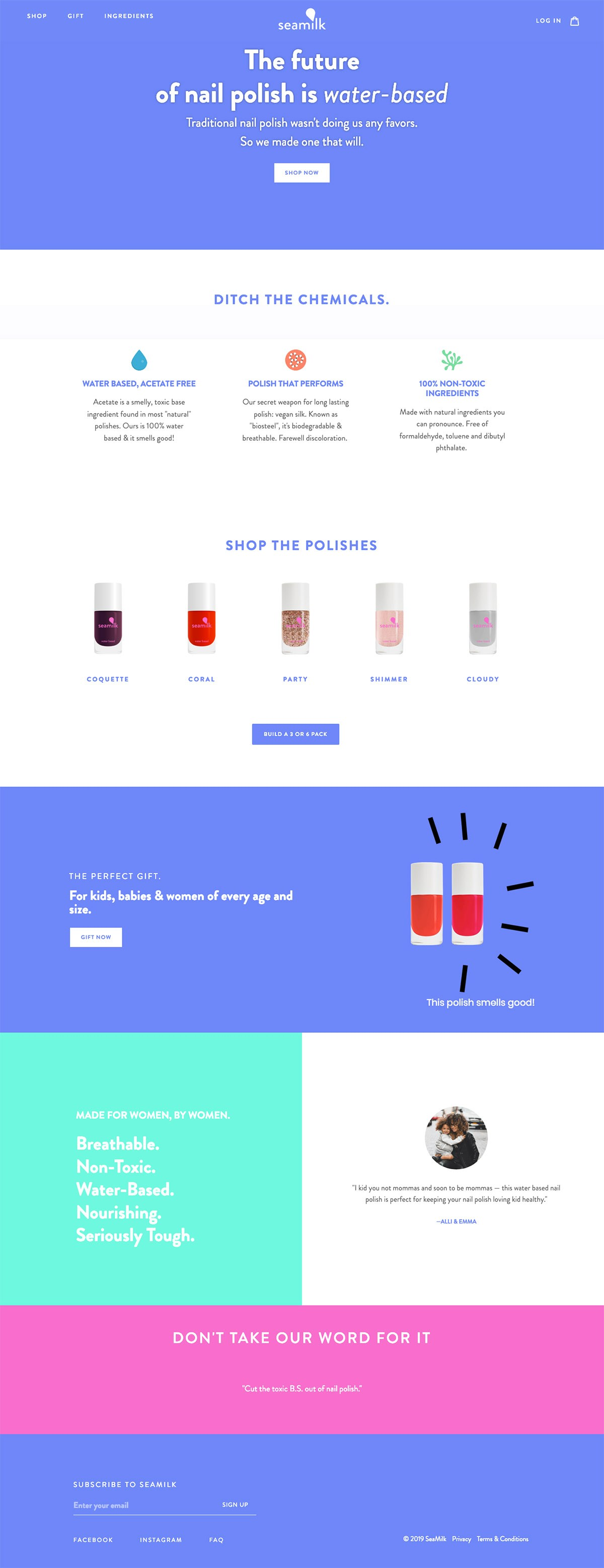 eCommerce website: SeaMilk