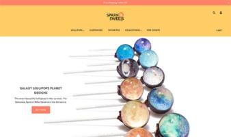 eCommerce website: Sparko Sweets