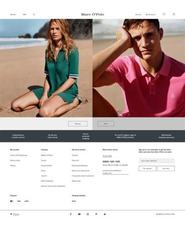 eCommerce website: Marc O' Polo