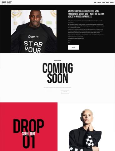 eCommerce website: 2hr Set