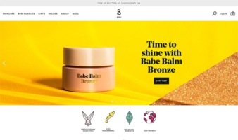 eCommerce website: BYBI Beauty