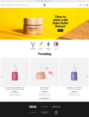 eCommerce website: BYBI Beauty