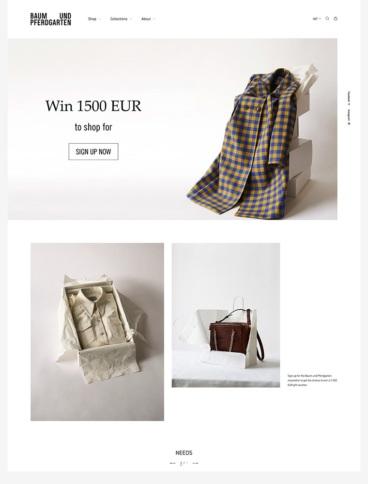 eCommerce website: Baum und Pferdgarten