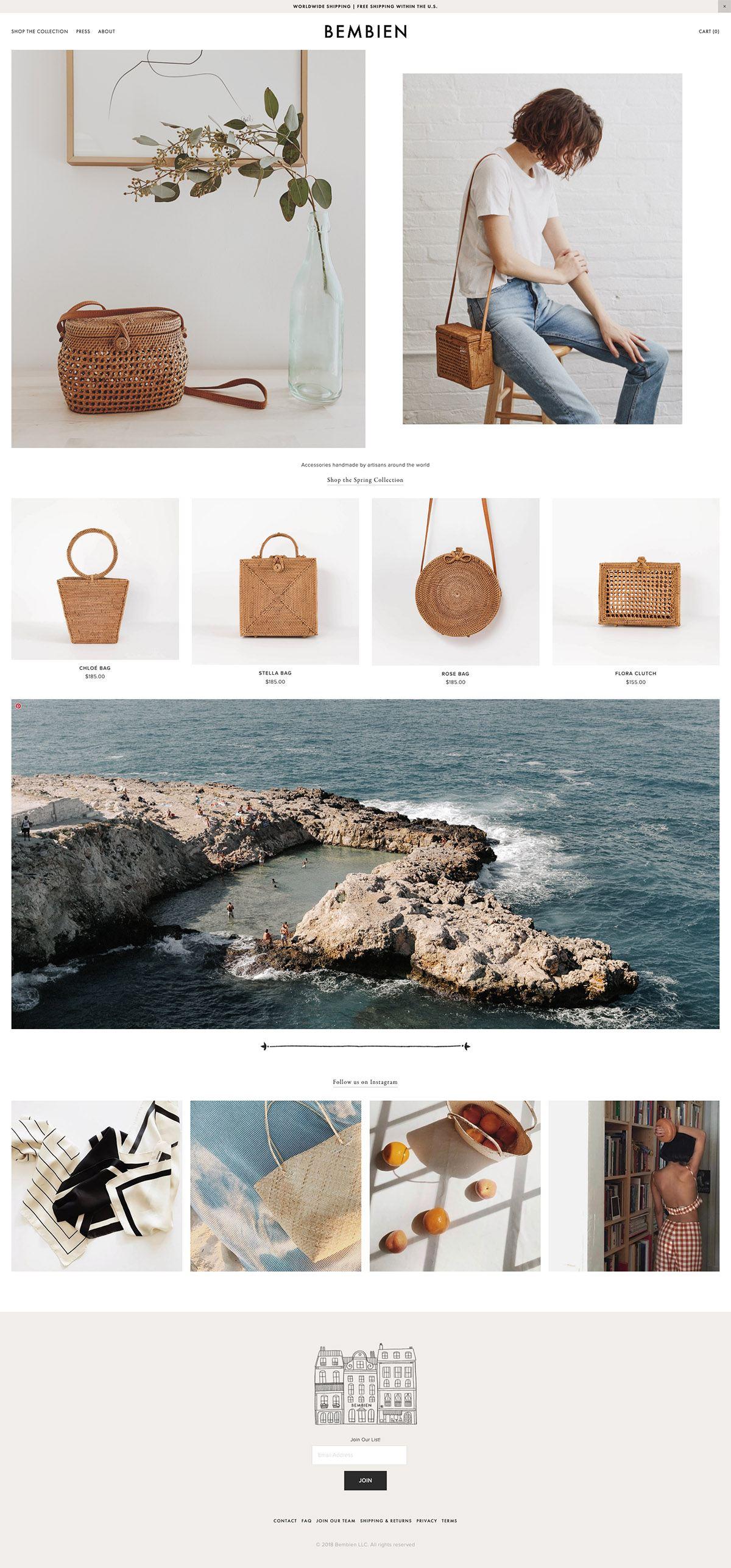 eCommerce website: Bembien