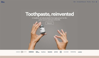 eCommerce website: Bite Toothpaste Bits