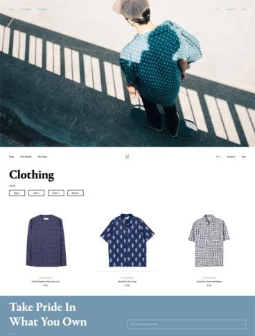 eCommerce website: Clark Street Mercantile