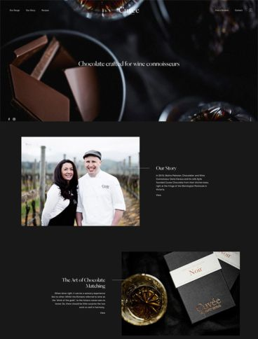 eCommerce website: Cuveé Chocolate