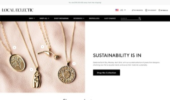 eCommerce website: Local Eclectic