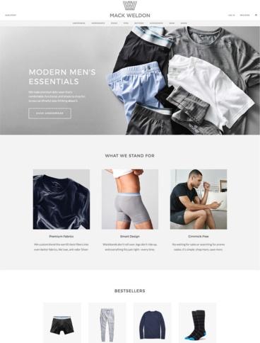 eCommerce website: Mack Weldon