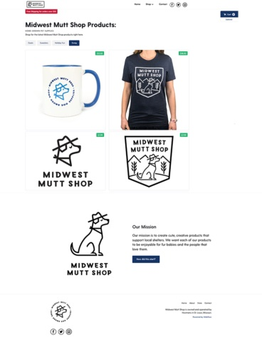 eCommerce website: Midwest Mutt Shop