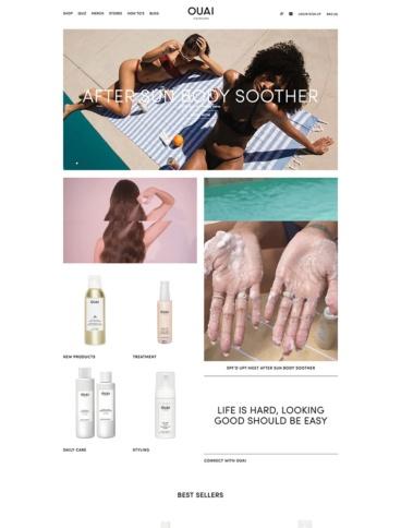 eCommerce website: OUAI