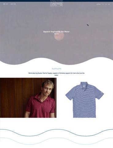 eCommerce website: Quaker Marine Supply