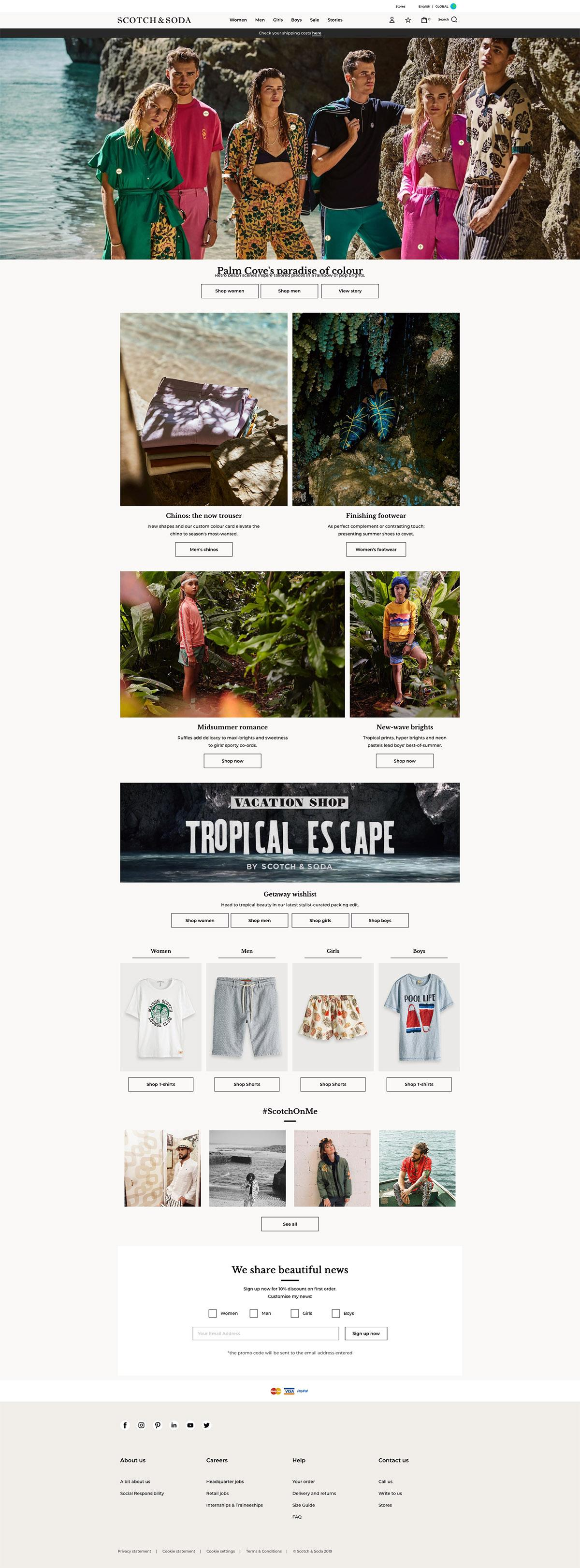 eCommerce website: Scotch & Soda