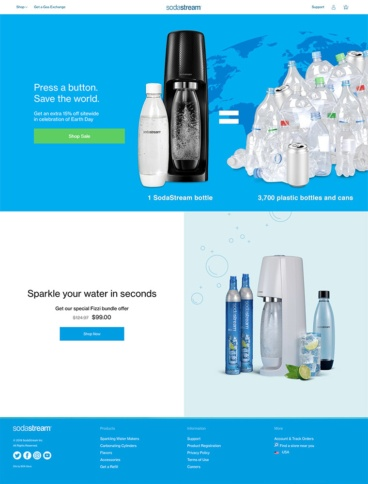 eCommerce website: SodaStream