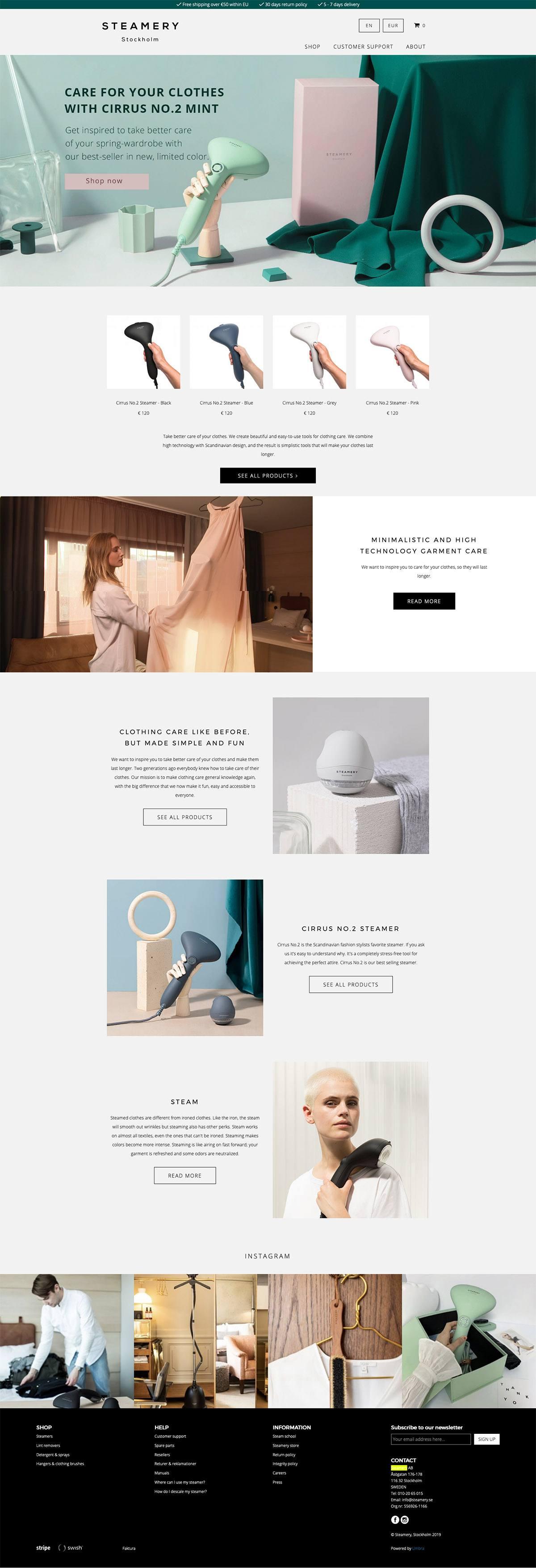 eCommerce website: Steamery
