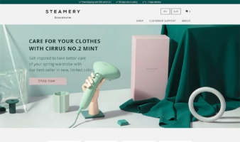 eCommerce website: Steamery