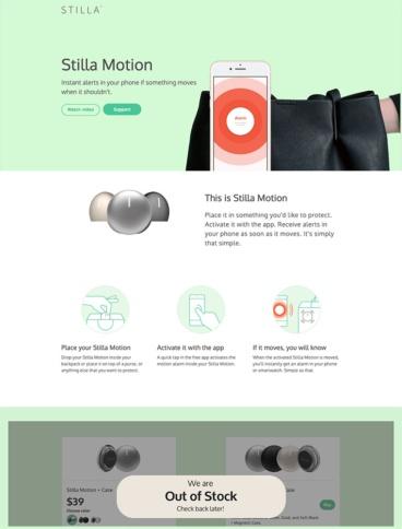 eCommerce website: Stilla