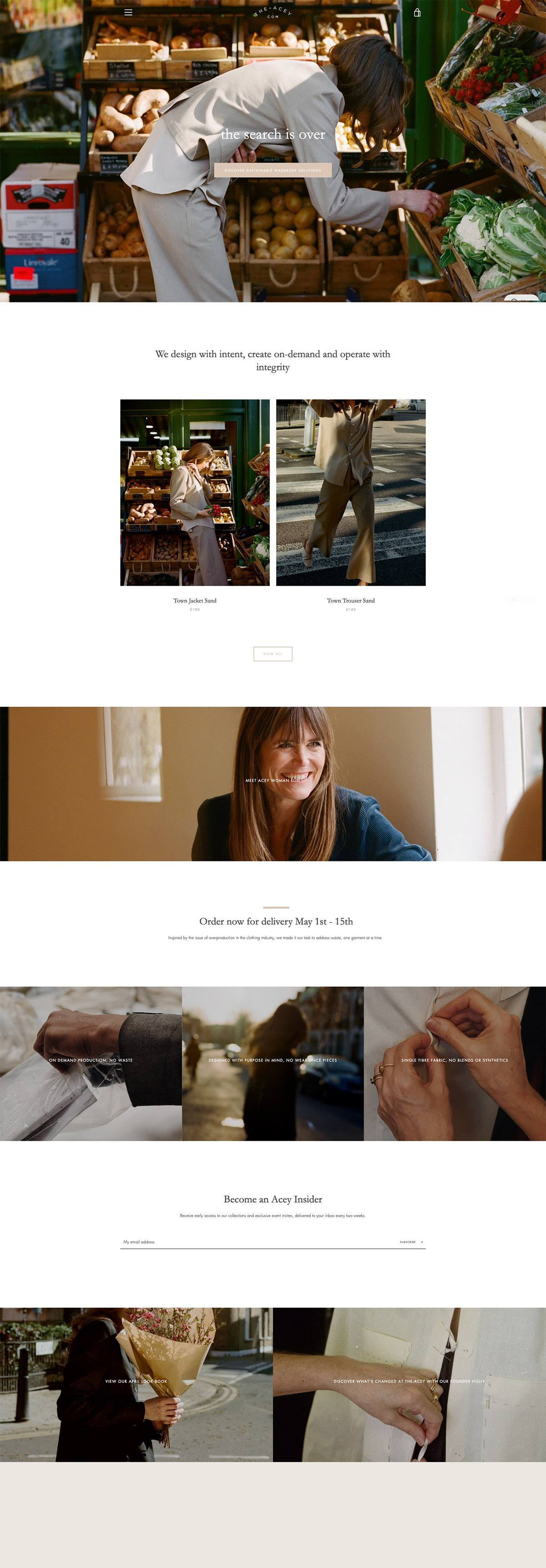 eCommerce website: The-Acey