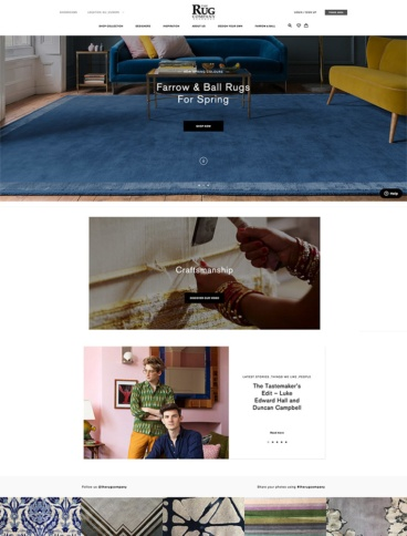eCommerce website: The Rug Company