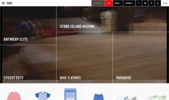 eCommerce website: VIER ANTWERP
