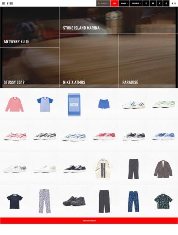 eCommerce website: VIER ANTWERP