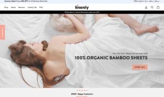 eCommerce website: linenly