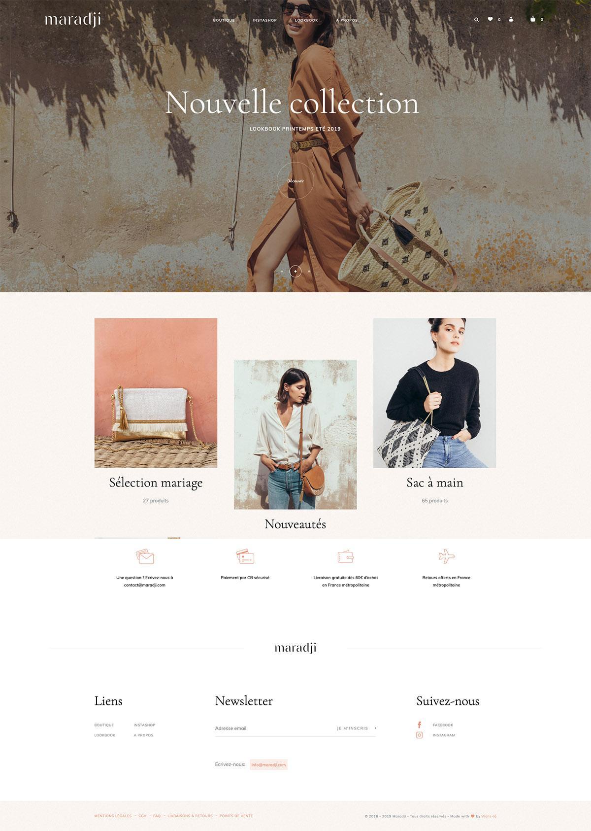 eCommerce website: Maradji