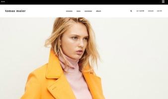 eCommerce website: tomas maier
