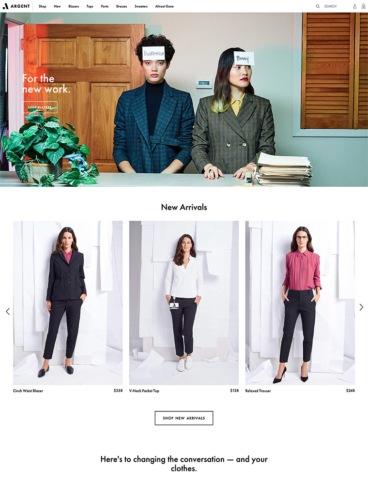 eCommerce website: ARGENT