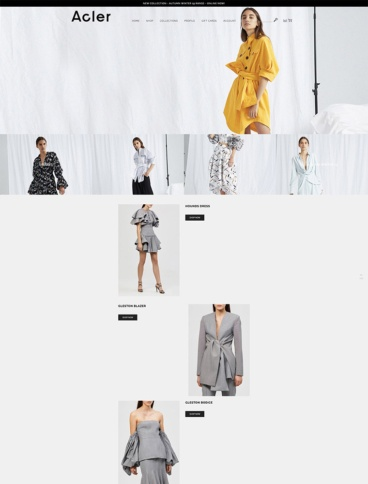 eCommerce website: Acler
