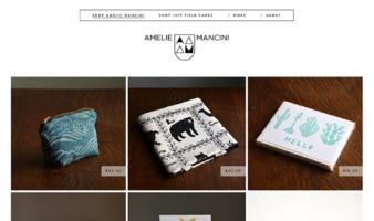eCommerce website: Amelie Mancini