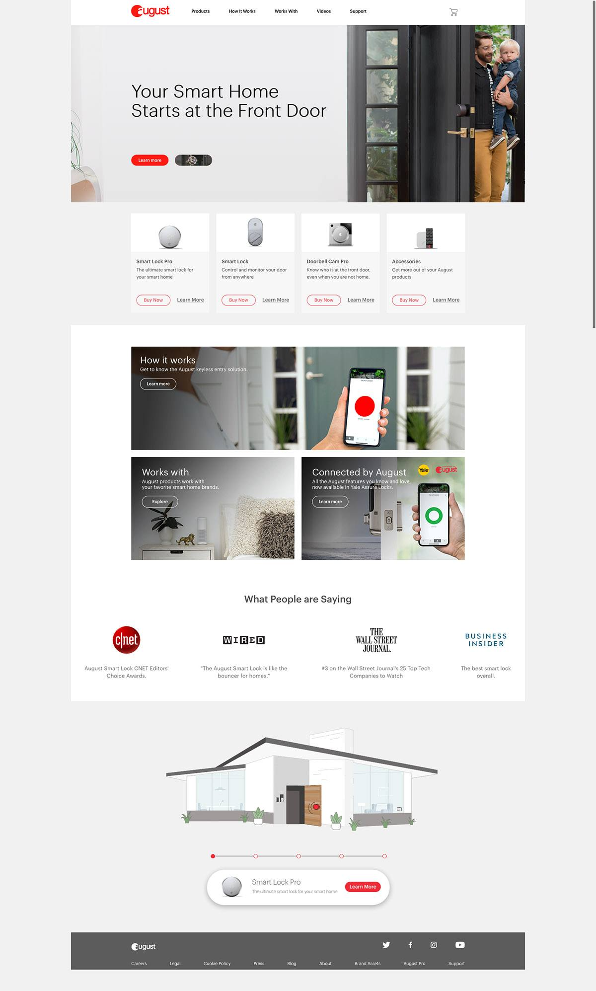 eCommerce website: August Home