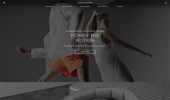 eCommerce website: Bang & Olufsen