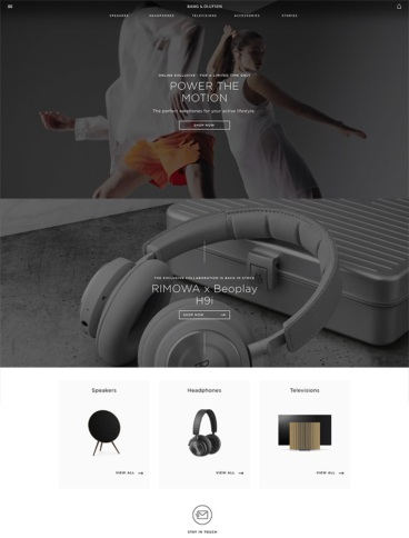 eCommerce website: Bang & Olufsen