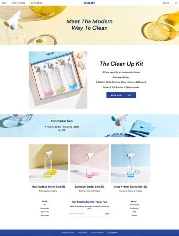 eCommerce website: Blueland