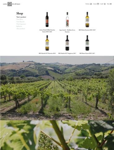 eCommerce website: Cantina dei Colli Ripani