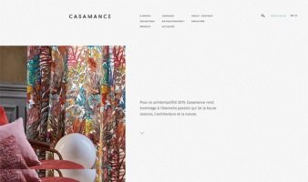 eCommerce website: Casamance
