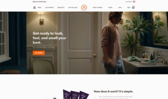 eCommerce website: Dollar Shave Club