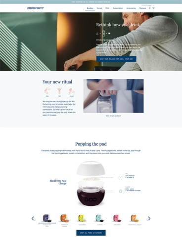 eCommerce website: Drinkfinity
