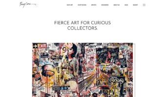eCommerce website: Fiercely Curious