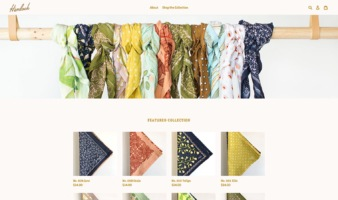 eCommerce website: Hemlock Goods
