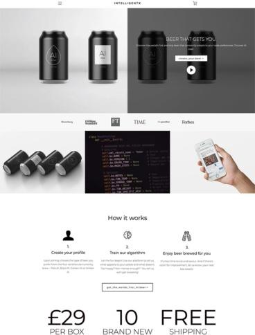 eCommerce website: IntelligentX