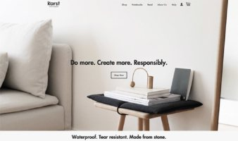 eCommerce website: Karst