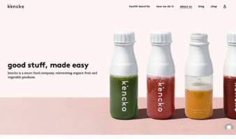 eCommerce website: Kencko