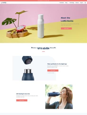 eCommerce website: LARQ