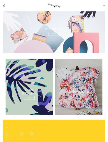 eCommerce website: Lillian Farag
