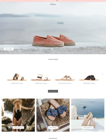 eCommerce website: Manebi